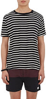 Saturdays Surf NYC Men's Randall Striped Cotton T-Shirt-BLACK