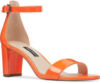 Nine West Pruce Block-Heel Sandals Women Shoes