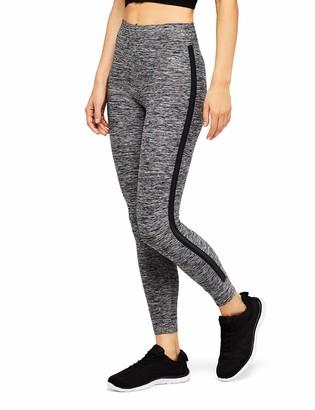 Aurique Amazon Brand Women's Side Stripe 7/8 Sports Leggings