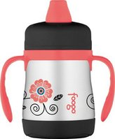 Foogo by Thermos Insulated Leak Proof Sippy Cup w Handles - Poppy Patch - 7 oz