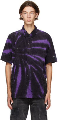Neighborhood Purple and Black Gramicci Edition Tie-Dye Short Sleeve Shirt