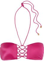 Vix Braided Halterneck Bikini Top - Magenta