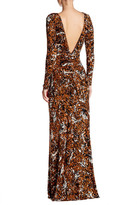 Rachel Pally Front Ruched Long Sleeve Print Dress