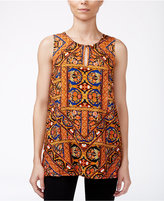Lucky Brand Silk Printed Top