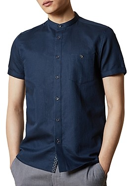 Ted Baker Slim-Fit Band Collar Shirt