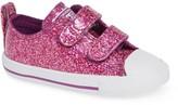 Converse R) Seasonal Glitter Sneaker (Baby, Walker & Toddler)