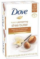 Dove Nourishing Care Shea Butter Moisturizing Cream Beauty Bar by Dove, 4 Ounce, 6 Count