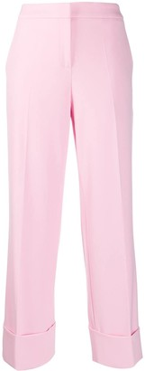 Boutique Moschino Cropped High-Waist Trousers