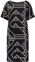 Ralph Lauren Petite Geometric-Print Jersey Dress