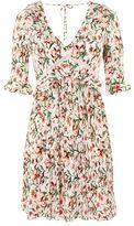 Topshop Floral crinkle mini skater dress