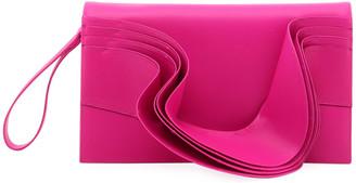 Valentino Ruffled Napa Clutch Bag