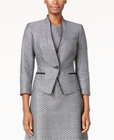 Nine West Two-Tone Tweed Blazer
