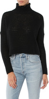 Autumn Cashmere Open Thermal Boxy Mock Neck Sweater