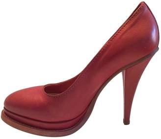 Acne Studios Red Leather Heels