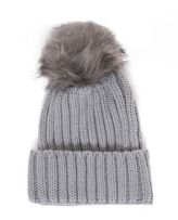 Quiz Grey Knitted Pom Pom Hat