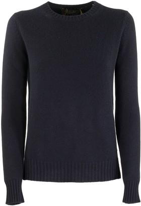 Loro Piana Girocollo Baby Cashmere Blue Sweater