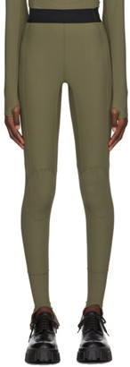 Ambush Green Mini Logo Scuba Leggings