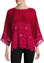 Johnny Was Tasho Georgette Dolman Top, Petite