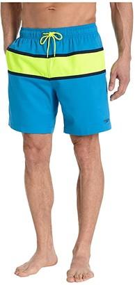 Speedo Color-Block Redondo Volley 18 Black) Men's Swimwear