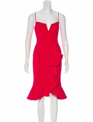 Nicholas Sleeveless Midi Dress Fuchsia