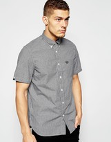 Fred Perry Shirt in Gingham Check Short Sleeves In Regular Fit