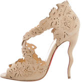 Christian Louboutin Suede Cutout Sandals