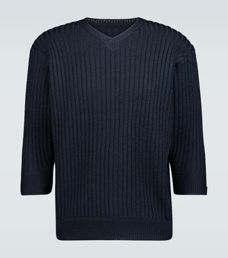Undercover Cropped sleeve knitted sweater