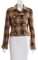 Dolce & Gabbana Bouclé Wool-Blend Coat
