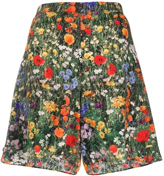 Stella McCartney floral A-line shorts