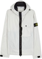 Stone Island Off White Shell Windcheater