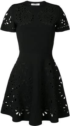 Valentino cut work embroidered dress