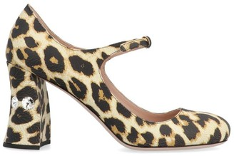 Miu Miu Mary Jane Leopard Print Pumps