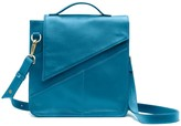 Holly & Tanager Wanderer Leather Crossbody Purse In Blue