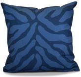 "Animal Stripe Geometric Print Pillow, Navy Blue, 16""x16"""