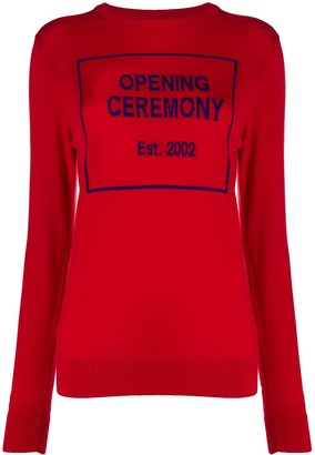 Opening Ceremony Knitted Box Logo Jumper