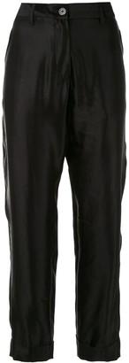 Ann Demeulemeester Straight High Waisted Trousers