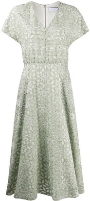 Harris Wharf London Floral-Pattern Midi Dress