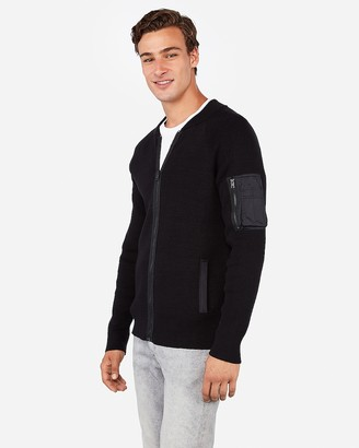 Express Zip Front Bomber Sweater