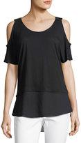 MICHAEL Michael Kors Cold-Shoulder Short-Sleeve Jersey Top