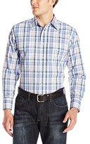 Wrangler Men's Wrinkle Resist Western Long Sleeve Woven Shirt