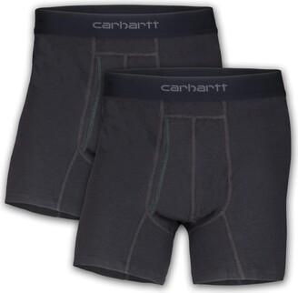 "Carhartt Men's 5"" Inseam Cotton Polyester 2 Pack Boxer Brief"