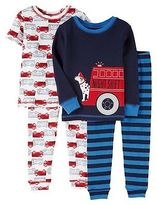 Just One You® made by Carter's Toddler Boys' 4 Piece Shore Sleeve/Long Sleeve PJ Set Blue - Just One YouMa...