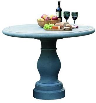 Campania International Palladio Stone/Concrete Bistro Table Color: Aged Limestone