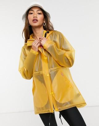 Hunter womens original raincoat in yellow