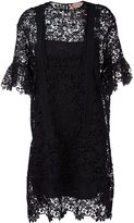 No.21 floral lace short sleeve dress