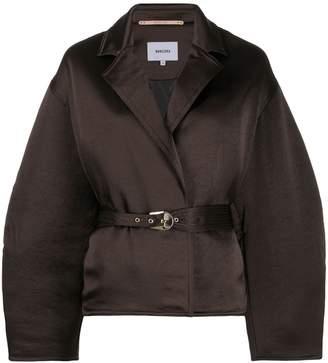 Nanushka belted wide sleeve jacket