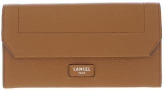 Lancel Ninon Flap-Over Wallet in Camel Brown