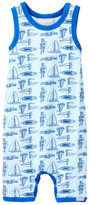 Coccoli Sailboat Print Sleeveless Romper (Baby Boys)