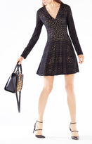BCBGMAXAZRIA Kinley Cable Stripe Lace Dress