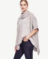 Ann Taylor Cashmere Turtleneck Ribbed Poncho